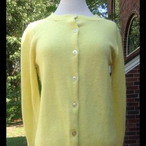 Vintage Yellow Button Front Cardigan Sweater